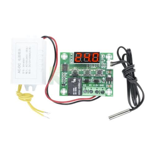 W1209-50~110°C Thermostat AC 110V-220V to DC 12V Voltage Power Supply Module