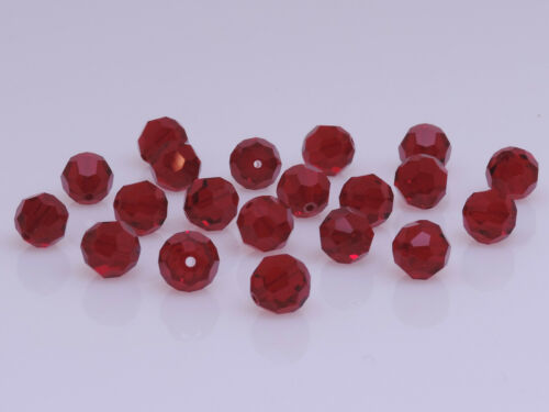 SIAM 20 PCS SWAROVSKI® Crystal Round Beads,Article #5000 8MM RED