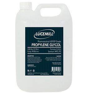 5 LITRE PROPYLENE GLYCOL (PG) USP/EP PHARMACEUTICAL GRADE MPG MONO 6658540272186
