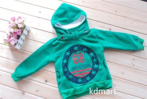 New kids boys winter warm hooded wool jumper pullover clothes size 2-6yrs