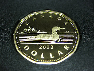 **Old Effigy** 2003 Canadian Prooflike Loonie $1.00