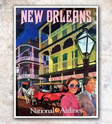 New Orleans Vintage Style 1960s Travel Poster 20x28