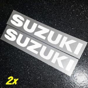 "Suzuki REFLECTIVE White 18"" long 45.7cm set GSXR 2002 moto gp srad racing bright"