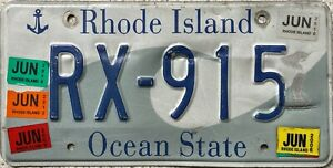 GENUINE-American-Rhode-Island-Waves-USA-License-Licence-Number-Plate-Tag-RX-915