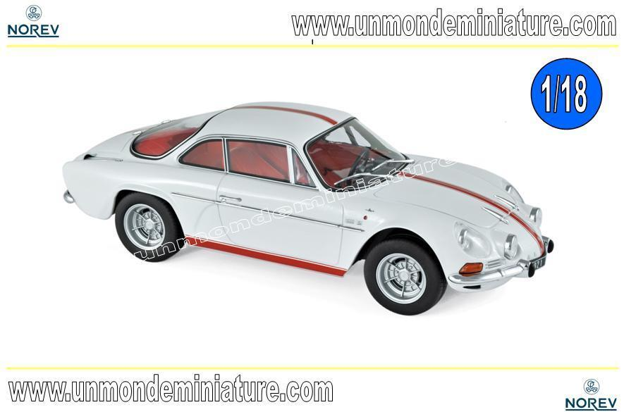 Alpine Renault A110 1600S 1971 bianca with rosso stripping  NOREV - NO 185303 1 18
