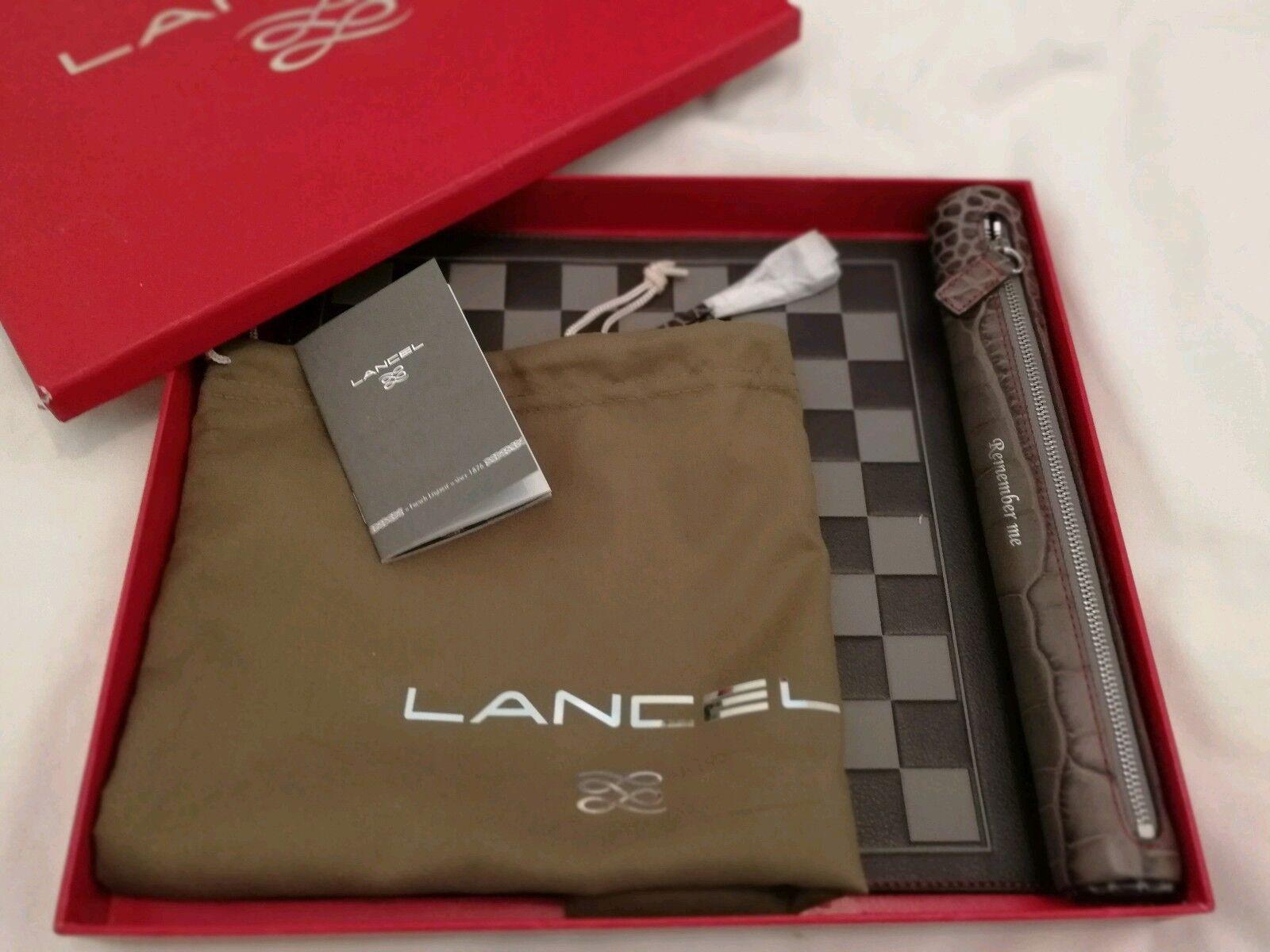 Lancel verificadores de viaje de cuero nuevo PVP £265