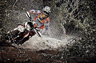 """MOTOCROSS DIRT BIKE JUMP SPORT PHOTO ART PRINT POSTER 24/""""x13/"""" 030"""
