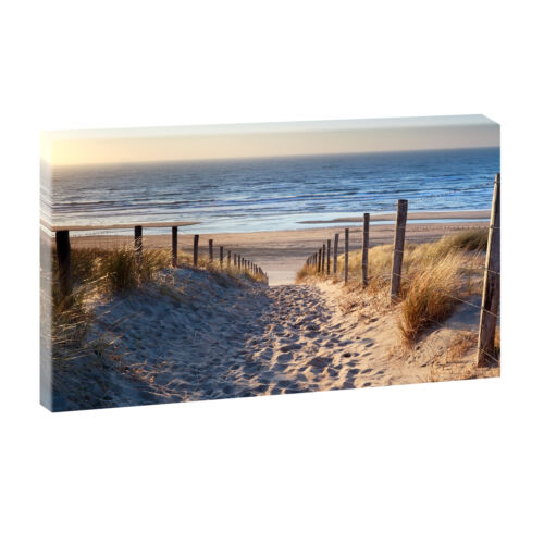 Weg zum Strand Bild Strand Meer Keilrahmen Leinwand Poster XXL 135 cm*80 cm 544
