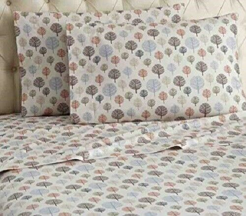 Shavel Mfnsskgtre Micro Flannel Trees King Sheet Set For Sale Online Ebay