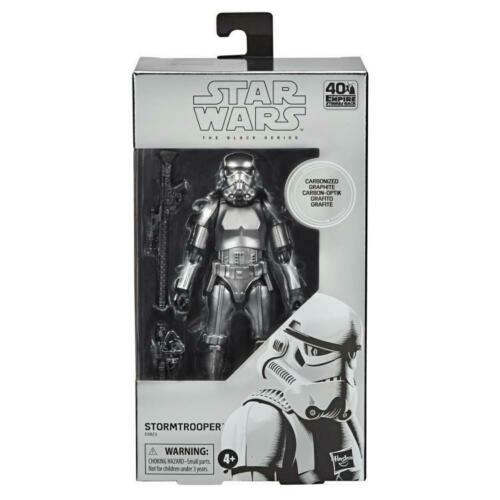 """Star Wars Carbonized Collection Stormtrooper Black Series 6/"""" Inch Action Figure"""