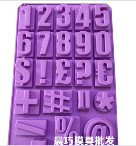 Number Symbol Soap Mold Cake Mold Silicone Mould For Candy Chocolate