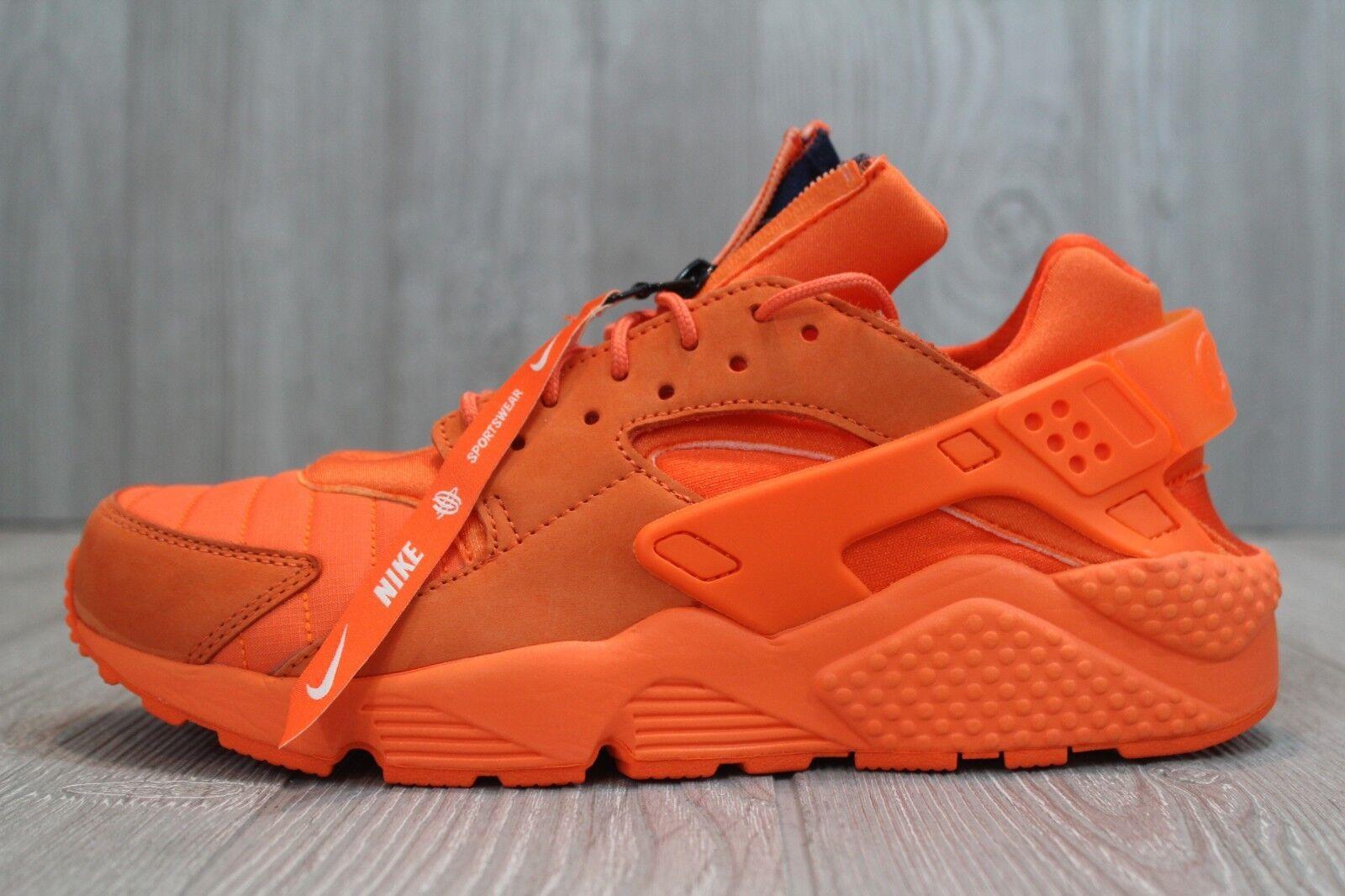 32 Nike Air Huarache Run QS Chicago Men's Shoes Orange Sizes 8.5-11.5 AJ5578 800