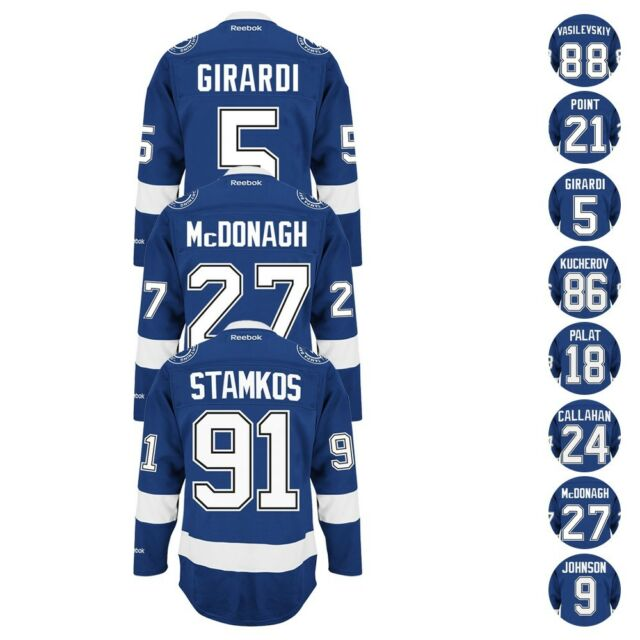 info for 8b70b 2d9d0 Tampa Bay Lightning Reebok Home Blue Premier Jersey Collection Men's
