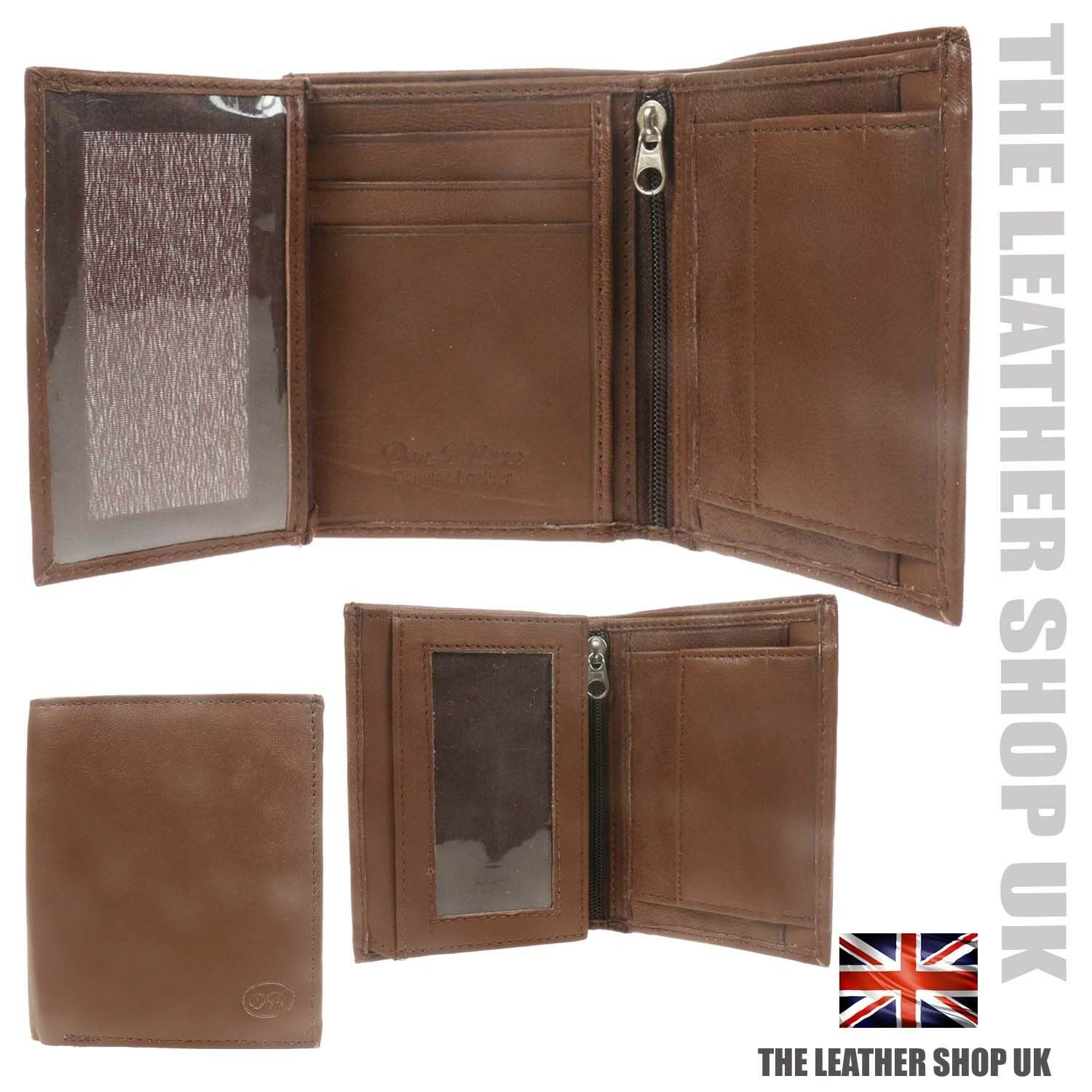 Don Milano Genuine Leather Multi Compartment Credit Card Holder Wallet 148 Brown