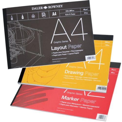 Daler ROWNEY GRÁFICO SERIE Almohadillas-diseño seguimiento o Bristol Board