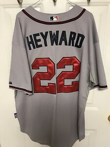 f0d18454 Details about NWT Jason Heyward#22 Atlanta Braves Authentic Majestic Jersey  Size 56