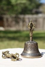 Tibetan Brass Bell with Dorje EX Large