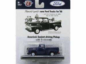 FORD F-100 Truck - 1956 - bluemetallic - M2 Machines 1:64