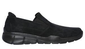SKECHERS-EQUALIZER-3-SUBSTIC-52938-BBK-scarpe-uomo-sportive-mocassino-camoscio