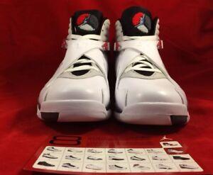 buy popular 50ef0 553cf Image is loading 305381-103-AIR-JORDAN-8-RETRO-WHITE-BLACK-