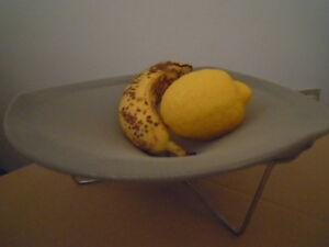 CHILEWICH-fruit-bowl-small-TRIPOD-portafrutta-VERDE-MALVA