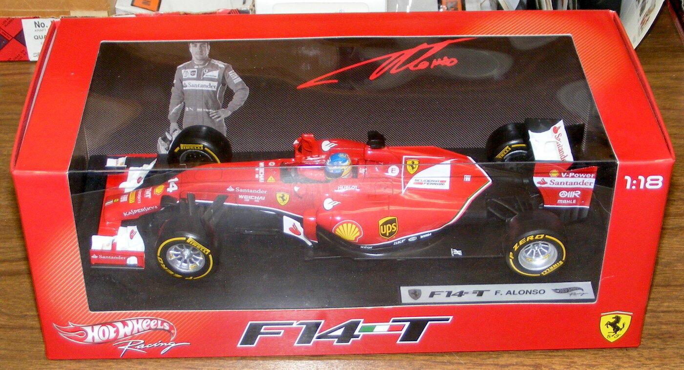 Hot Wheels 1 18 2014 Ferrari F14T Fernando Alonso,  BLY67 - neuf, jamais ouvert
