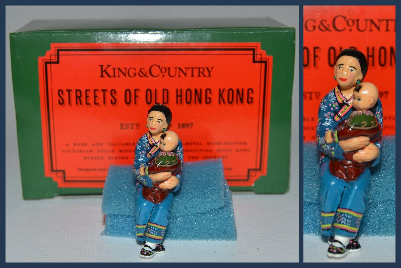 King & Country Streets of Old Hong Kong  HK031G Sitting Mother w Baby  S6