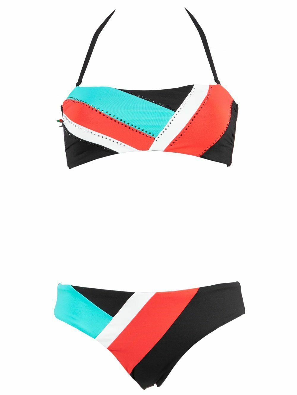 Bikini Donna Valery Prestige Nero Fantasia inserti Geometrici - RGE102PR57