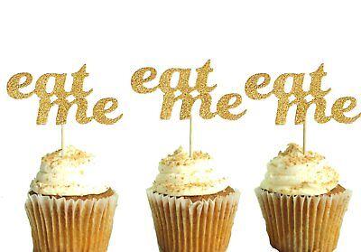 Geburtstag Junggesellinenabschied Polka Dot Sky Eat Me Cupcake Deckel