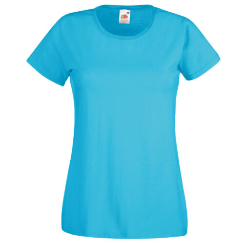 WOMENS FITTED CREW NECK T-SHIRT 100/% COTTON ADULT FASHION XS-XXL 8 COLOURS LOT