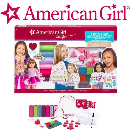 No Sew FUN NEW American Girl Doll Craft Kit 8-in-1 Fashion Accessory Super Set