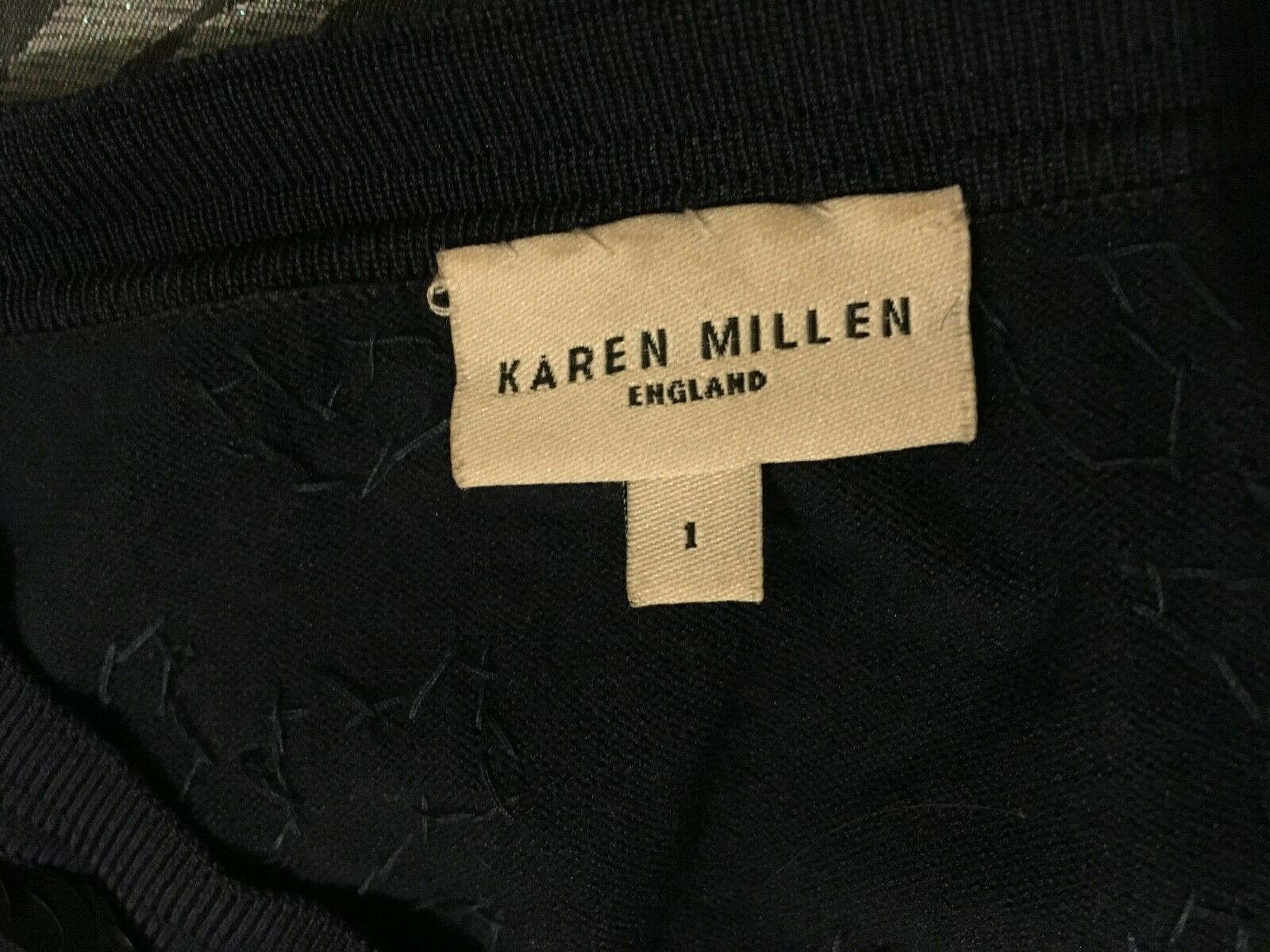 Karen Millen bluee Sequinned silk cardigan Size Size Size 1 81531d