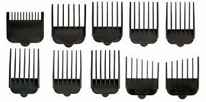 Wahl-Hair-Clipper-Guide-Comb-Set-10pc-Standard-Guards-Attach-Trimmer-Style-Parts