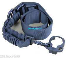 New Single 1 One Point Bungee Sling +Clamp-On Slip Over castle nut Adapter #07