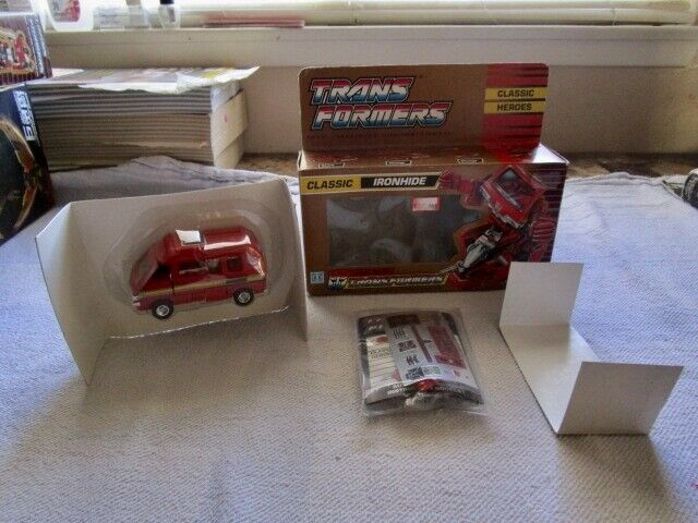 1990 UK Transformers Sealed In Bubble Autobot Ironhide Unapplied MIB Box