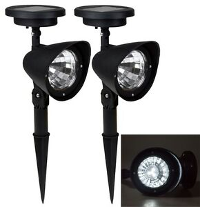 2x solar spot light outdoor garden lawn landscape led spotlight path image is loading 2x solar spot light outdoor garden lawn landscape mozeypictures Image collections