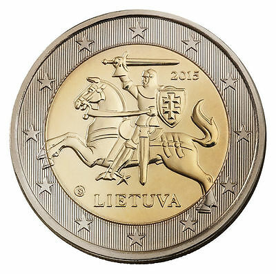 Lithuania 2 euro coin 2015 UNC from bank roll