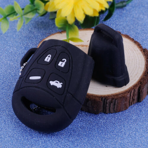4 Button For Saab 9-3 9-5 Silicone Cover Shell Fob Keychain Ring Remote Key