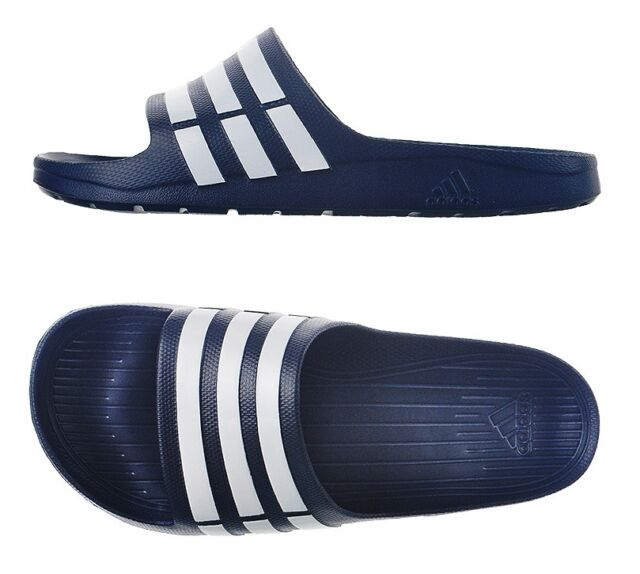 super popular 91715 ce056 New Mens Adidas SANDAL Duramo Slides (G15892) Navy All Sz Adidas Beach  Slippers