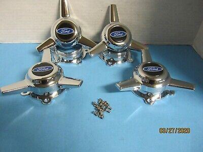 4 SPINNERS 3 BARS CAPS AMERICAN RACING TORQ THRUST II WHEELS 2 1//4 HOLE W//BLUE