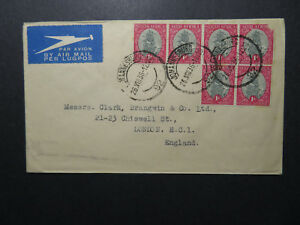 South-Africa-1936-Airmail-Cover-to-UK-Z12522