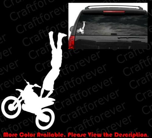 Dirty Bike Motor Cycle Off Road Car Window Vinyl Die Cut Decal Off Road MT002