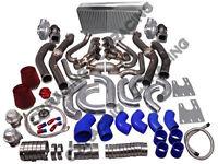 Twin Turbo Header Intercooler Kit G-body Ls1 Ls Motor Cutlass Grand National-blu