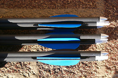 "Gold Tip Lightning Arrows w/nocks, points & fletched 1/2doz 28"" up to 35lb bows"