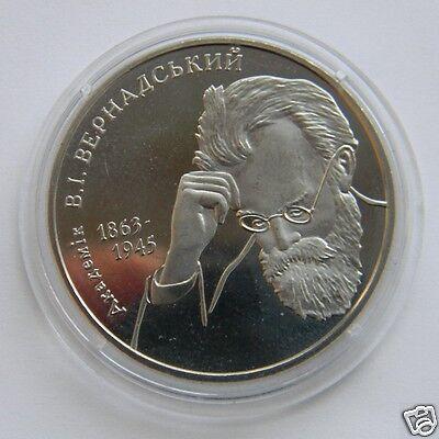 SERHII KOROLIOV Korolev Ukraine 2007 Coin 2 UAH Scientist KM# 428 Space Zond