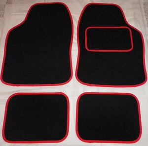 Car Mats Black and Red trim mats for Chevrolet spark Aveo Cruze Kalos Matiz