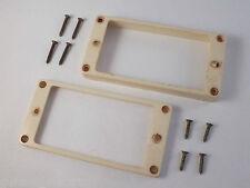 Relic aged Knochen Weiß Humbucker Rahmen + im Alter von Schrauben für Gibson Les