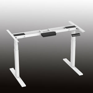 Fine Details About Dual Motor 3 Legs Electric Adjustable Height Desk Frame Sit To Stand Desk Base Download Free Architecture Designs Embacsunscenecom
