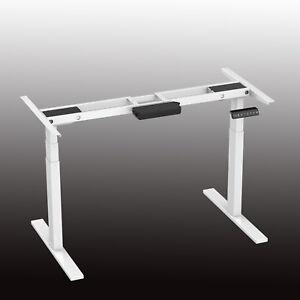 Image Is Loading Dual Motor 3 Legs Electric Adjustable Height Desk