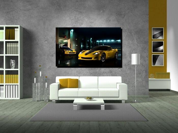 LEINWAND BILD BILDER XXL POP Kunst PONTIAC GTO CORVETTE AUTO ABSTRAKT BIS 150x90